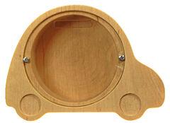 Dřevěná pokladnička – auto