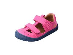 Filii barefoot - pink KAIIMAN VEGAN textil velcro-22