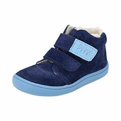 Filii barefoot kotníková obuv - CHAMELIION velours ocean wool velcro - 25