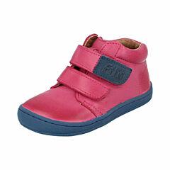Filii barefoot kotníková obuv - nappa pink velcro - 26