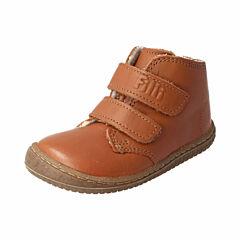 Filii barefoot kotníková obuv - softFEET bio nappa chestnut wool velcro - 23