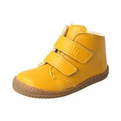 Filii barefoot kotníková obuv - softFEET bio nappa mustard wool velcro - 25