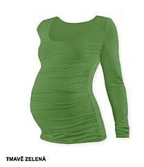 Těhotenské tričko JOHANKA dlouhý rukáv Jožánek - L/XL, tmavě zelená