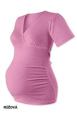 Volná těhotenská tunika VERONIKA krátký rukáv Jožánek