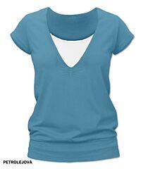 Kojící tričko KARLA krátký rukáv Jožánek - M/L, petrolejová