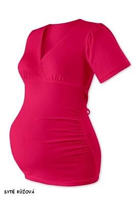 Těhotenská tunika na zavazování ZUZANA krátký rukáv Jožánek