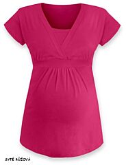 Těhotenská tunika do A krátký rukáv ANIČKA Jožánek - M/L, sytě růžová