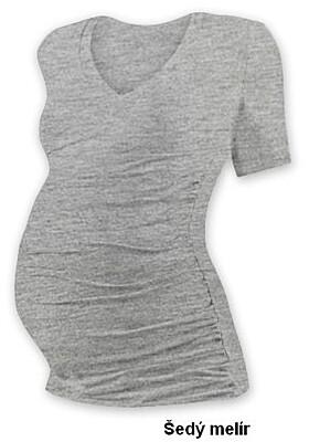 """Těhotenské tričko """"V"""" výstřih VANDA krátký rukáv Jožánek"""