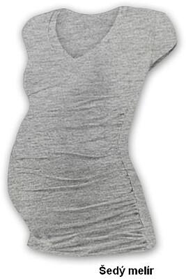 """Těhotenské tričko """"V"""" výstřih VANDA mini rukáv Jožánek"""