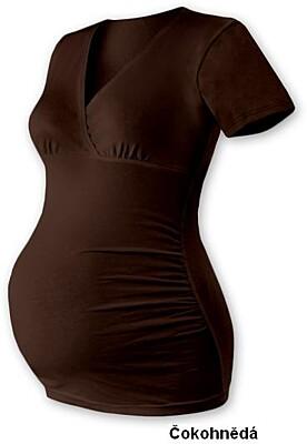 """Těhotenská tunika """"V"""" výstřih BARBORA, krátký rukáv Jožánek"""