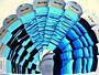 Návleky Design Socks - mix modrá - pět barev
