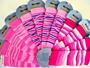 Návleky Design Socks - mix růžová - pět barev