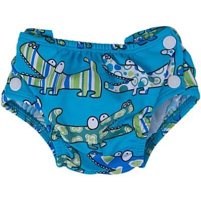 Plenkové plavky modrý krokodýl Popolini