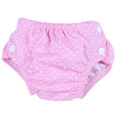 Plenkové plavky růžové s puntíkem Popolini