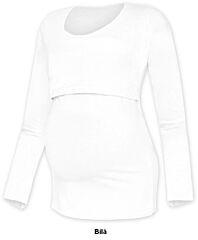 Tričko pro snadné kojení KATEŘINA dlouhý rukáv Jožánek - S/M, bílá