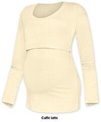 Tričko pro snadné kojení KATEŘINA dlouhý rukáv Jožánek - XS/S, čoko hnědá
