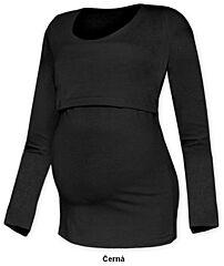 Tričko pro snadné kojení KATEŘINA dlouhý rukáv Jožánek - M/L, černá