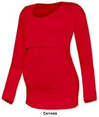 Tričko pro snadné kojení KATEŘINA dlouhý rukáv Jožánek - S/M, červená