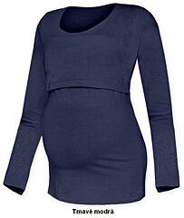 Tričko pro snadné kojení KATEŘINA dlouhý rukáv Jožánek - M/L, tmavě modrá