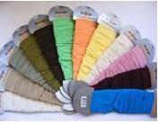 Návleky Design Socks - jednofarebné - Biela