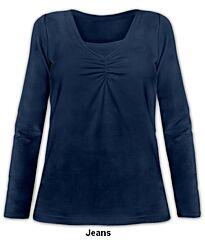 Kojící tričko KLAUDIE dlouhý rukáv Jožánek - S/M, jeans