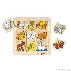 Dřevěné puzzle – Kdo ke komu patří? Goki