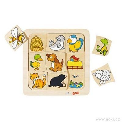Dřevěné puzzle – Kdo kde bydlí? Goki