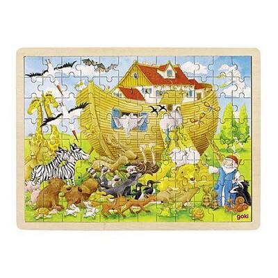 Dřevěné puzzle - Noemova Archa, 96 dílů Goki