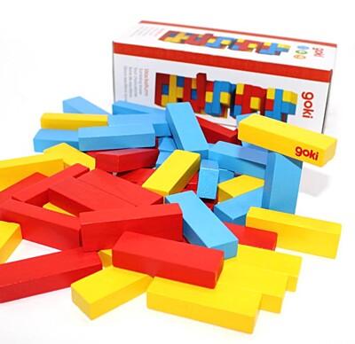 Zábavná hra – Vratká věž Jenga barevná Goki