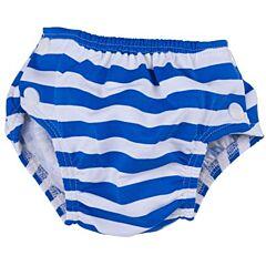 Plenkové plavky modré s proužkem Popolini - L