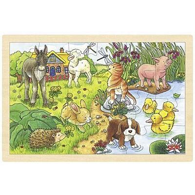 Puzzle na desce – zvířátka Goki