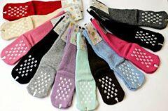 Dětské protiskluzové vlněné ponožky vel. 3 Diba - neutrální barvy