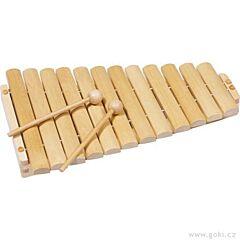 Xylofon dřevěný, 12 tónů, 35 cm