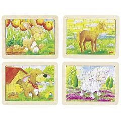 Puzzle – Zvířátka, 24 dílů Goki - kachna