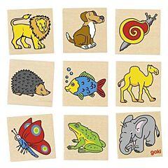 Dřevěné pexeso – Zvířátka, 32 díly Goki
