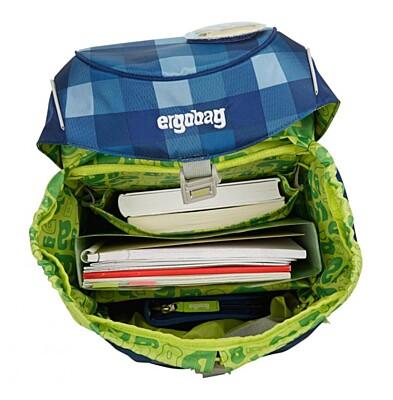 Batoh školní Ergobag prime modrý károvaný