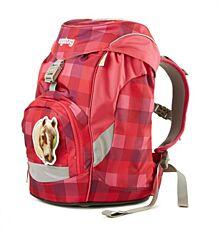 Batoh školní Ergobag prime purpurový károvaný Ergobag - samostatný