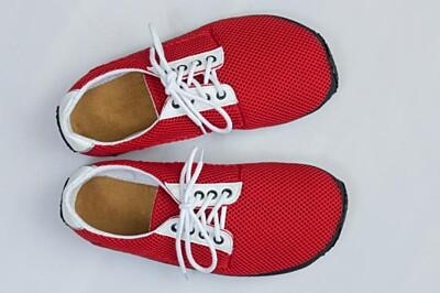 Barefoot boty Červená prodyšná Ahinsa shoes
