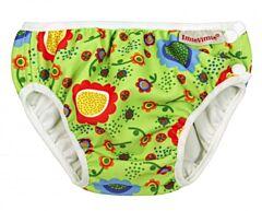 Plavky Imse Vimse Zelené květy S 5-8kg Doprodej