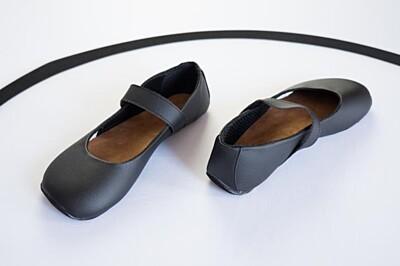 Barefoot boty Balerínky černé s černou podšívkou Ahinsa shoes