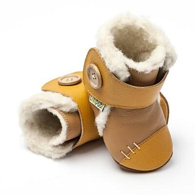 Zimní botičky Liliputi Arctic karamelové