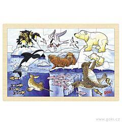 Puzzle na desce – Polární zvířata Goki