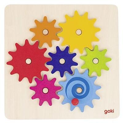 Roztoč mě – hra s ozubenými kolečky, 8 dílů Goki