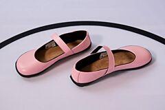 Barefoot boty Balerínky růžové s černou podšívkou Ahinsa shoes - 35