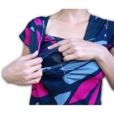 Kojící tričko KLAUDIE krátký rukáv TISK04 Jožánek