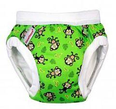 Tréninkové kalhotky Organic Imse Vimse Zelené Opičky JR