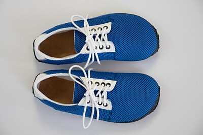 Barefoot boty Modrá prodyšná Ahinsa shoes