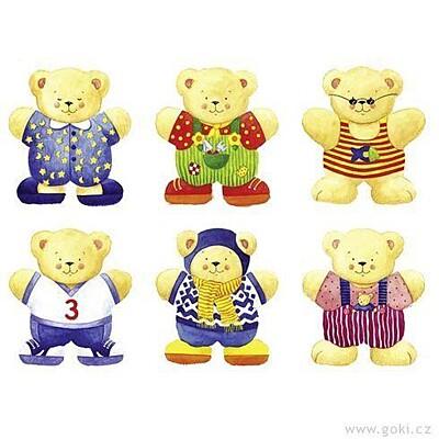 Puzzle - Šatní skříň medvědi Goki