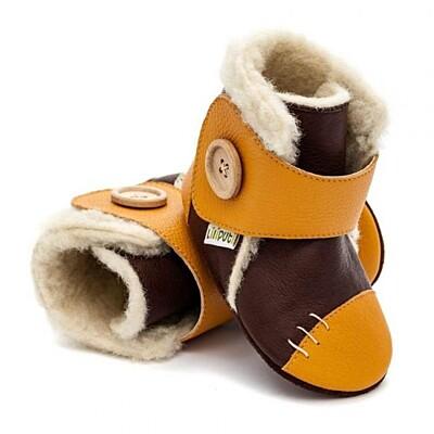 Zimní botičky Snowflake Mustard Liliputi