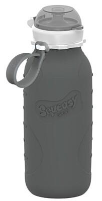 Silikonová láhev šedá 480 ml Squeasy